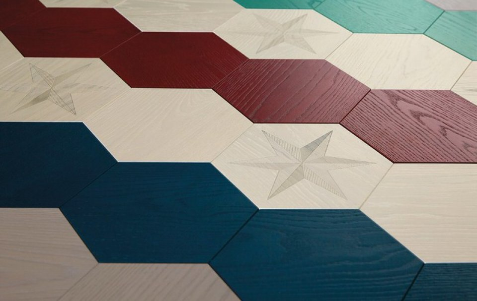 Hillstar Parquet Floor Design by Edward van Vliet for Bisazza