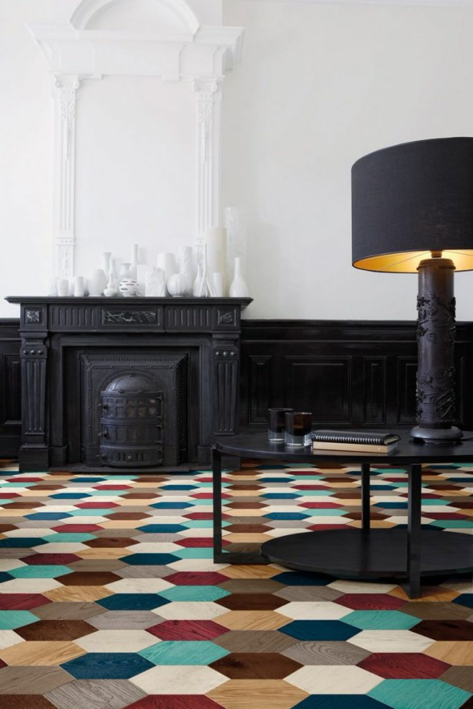 Hexagonal Parquet Wood Floor Tiles by Edward van Vliet for Bisazza 683x1024
